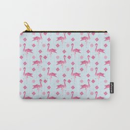 Origami Flamingo Carry-All Pouch