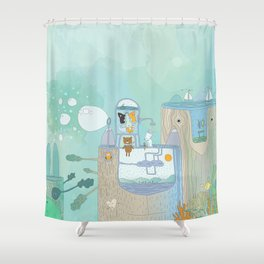 Happy Creatures Shower Curtain
