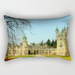 Balmoral Castle in Springtime Rectangular Pillow