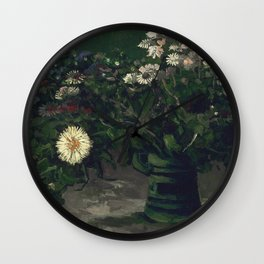 Vincent Van Gogh - Still Life with a Bouquet of Daisies Wall Clock
