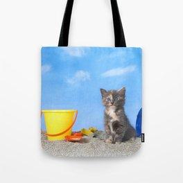 Kitten Fun in the Sun Beach Time Tote Bag
