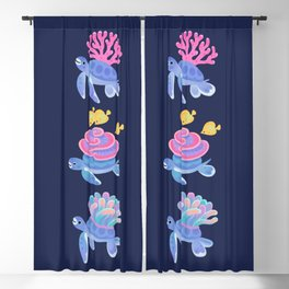 Coral turtle Blackout Curtain