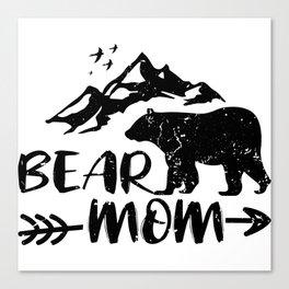 Bear Mom Animal Shirt Gift Canvas Print