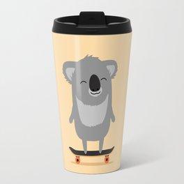 Cute cartoon koala skateboarding Travel Mug