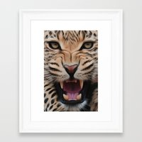 leopard Framed Art Prints featuring Leopard   by Brian Raggatt