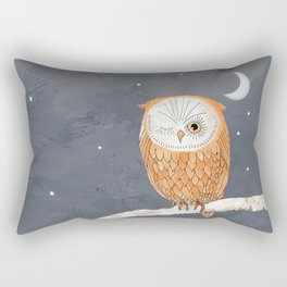 Winking Owl by the Light of the Moon Rectangular Pillow