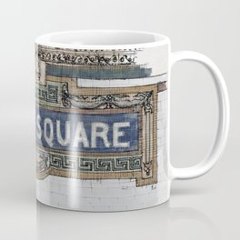 Times Square Subway New York, Tile Mosaic Sign Coffee Mug