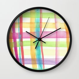 Rainbow Mesh Watercolor Wall Clock