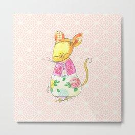 Ole Grandma Mouse Metal Print