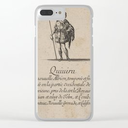 Game of Geography - Quivira, in western Mexico and America (Stefano della Bella, 1644) Clear iPhone Case