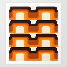 Mid-Century Modern Meets 1970s Orange Art Print