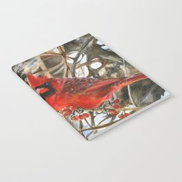 Winter Cardinal by Teresa Thompson Notebook