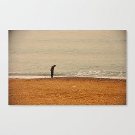 Beach Contemplation Canvas Print