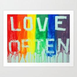 Love Often Art Print