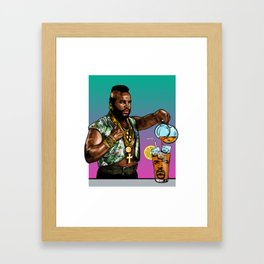 T Time Framed Art Print