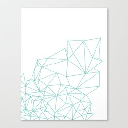 Crystal Outline Canvas Print