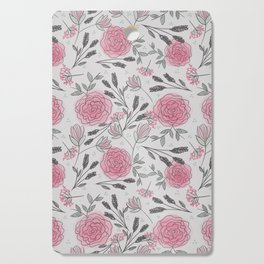Soft and Sketchy Peonies Cutting Board