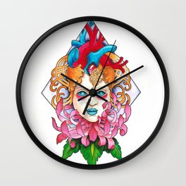 Girl With Heart 2 Wall Clock