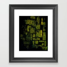 forest abstract Framed Art Print