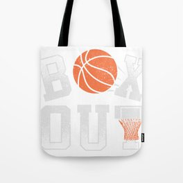 Basketball Coach Shirt Box Out rebound defense Tote Bag