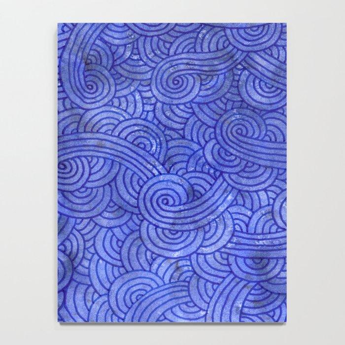 Royal blue swirls doodles Notebook