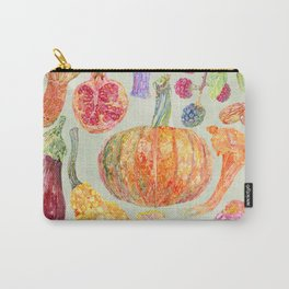 Seasonal Fruits - Sage Carry-All Pouch