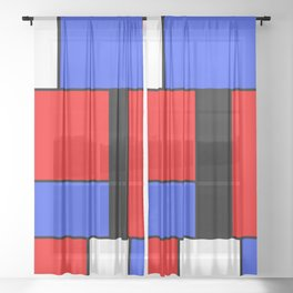 Mondrian #51 Sheer Curtain