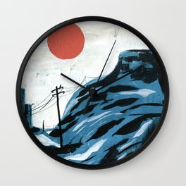 Watching the Impending Sunset Wall Clock