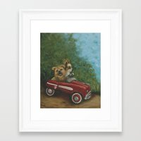 grand theft auto Framed Art Prints featuring Grand Theft Auto by Robin Wiesneth