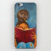bookworm iPhone & iPod Skins featuring bookworm by Sugah Acrylics & Designs