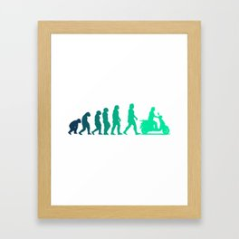 Scooter Evolution Moped And Scooter Gifts Framed Art Print