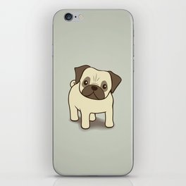 Pug Puppy Illustration iPhone Skin