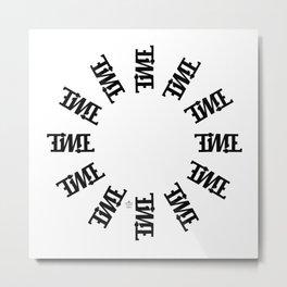 """TIME"" Rotating Metal Print"