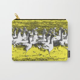 Marching Geese - Yellow Carry-All Pouch