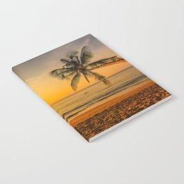 Beautiful Sunset over the Beach Notebook