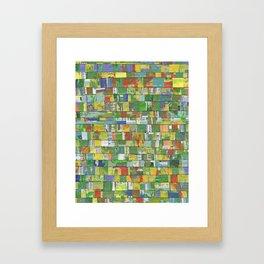 Colorburst Collage Framed Art Print