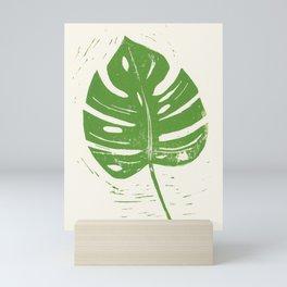 Linocut Leaf Mini Art Print