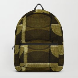 """""""Retro Olive green Chained Circles"""" Backpack"""