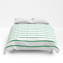 Kelly Green Breton Stripes Comforters