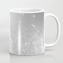 Modern silver glitter ombre metallic sparkles confetti Coffee Mug