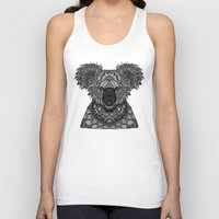 koala Tank Tops featuring Koala by ArtLovePassion
