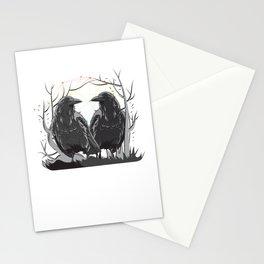 Huginn And Muninn Norse Mythology Ravens Midgard Birds Crow Gift Stationery Cards