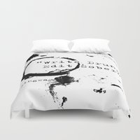 hemingway Duvet Covers featuring Hemingway Writing Quote by Novel Reveries
