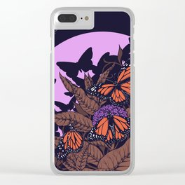 monarchs and milkweed Clear iPhone Case