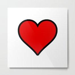 Heart Shape Digital Illustration, Modern Artwork Metal Print