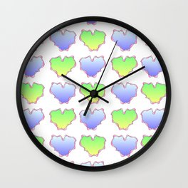 hearts 4-love,romantism,romantic,cute,beauty,tender, tenderness Wall Clock