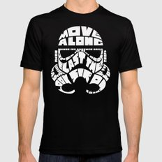 Stormtrooper in typography Black Mens Fitted Tee MEDIUM