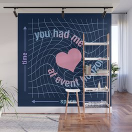 Love in Space Time Continuum Wall Mural
