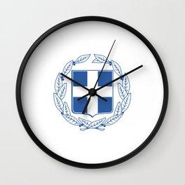 Coast of arms of Greece Wall Clock