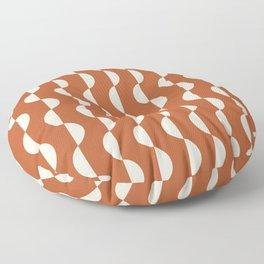 Gwynne Pattern - Red Floor Pillow